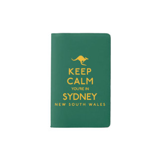 Keep Calm You're in Sydney! Pocket Moleskine Notebook