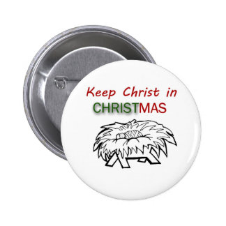 Keep Christ in Christmas 6 Cm Round Badge