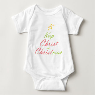 KEEP CHRIST IN CHRISTMAS BABY BODYSUIT