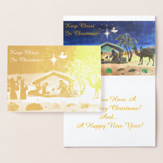 Keep Christ In Christmas Foil Card