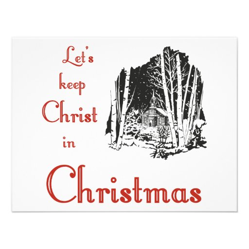 Keep Christ in Christmas Personalized Invite