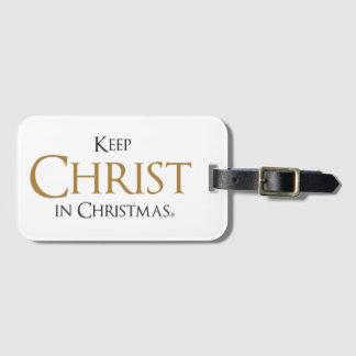 Keep Christ In Christmas® Luggage Tag