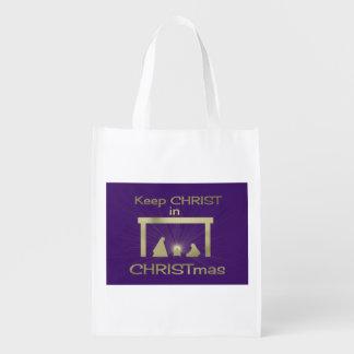 Keep Christ In Christmas Nativity Shopping Bag