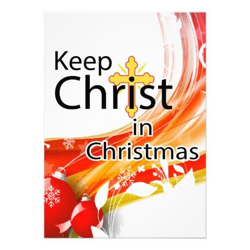 Keep Christ in Christmas, Swirl Custom Invitations