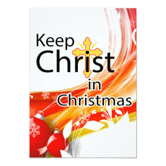 Keep Christ in Christmas, Swirl 5x7 Paper Invitation Card