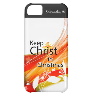 Keep Christ in Christmas, Swirl iPhone 5C Case