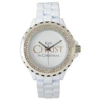 Keep Christ In Christmas® White Enamel Watch