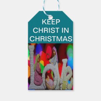 Keep Christ n Christmas with the Nativity and Love Gift Tags
