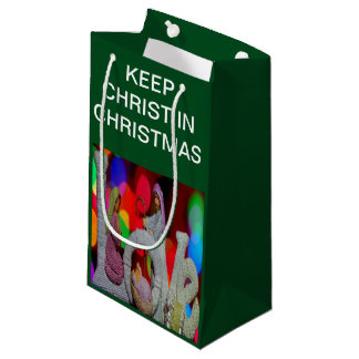 Keep Christ n Christmas with the Nativity and Love Small Gift Bag