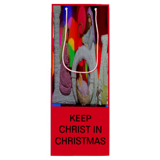Keep Christ n Christmas with the Nativity and Love Wine Gift Bag