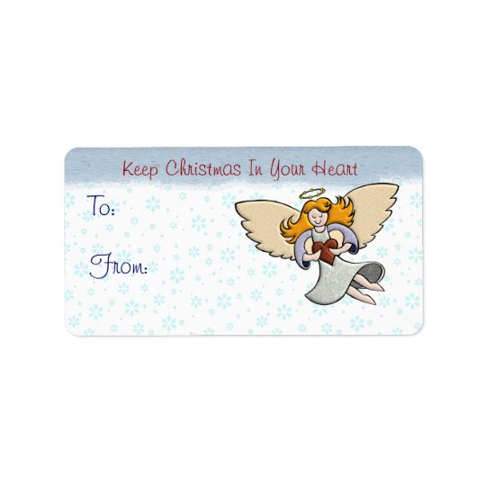 Keep Christmas In Your Heart Address Label