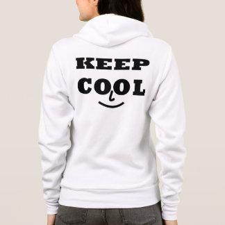 Keep Cool Zip Hoodie Sweatshirt, White
