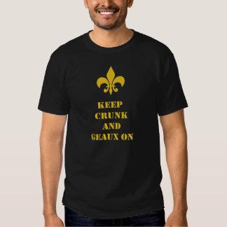 Keep Crunk Geaux On Fleur de Lis Shirt