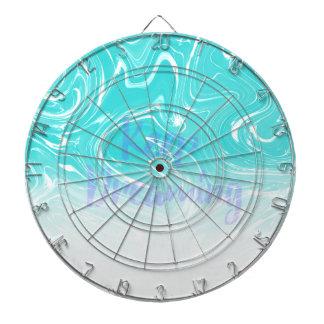 Keep Dreaming Typography on Liquid Marble Design Dartboard