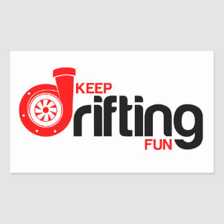 Keep Drifting Fun Rectangular Sticker