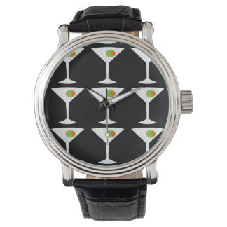 Keep 'Em Coming Martini Watch (black)