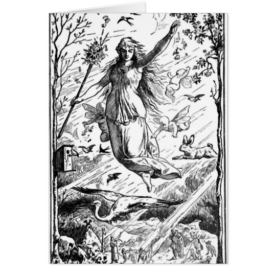 Keep Eostre in Easter Card
