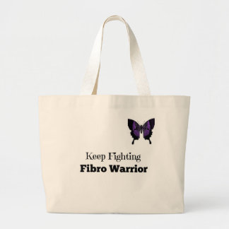 Keep Fighting Fibro Warrior Large Tote