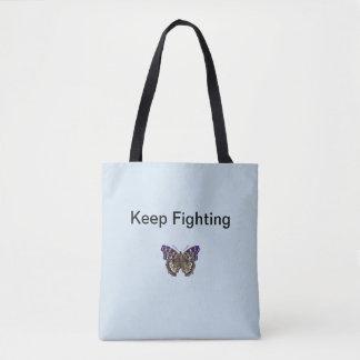 Keep Fighting Fibromyalgia Tote Bag