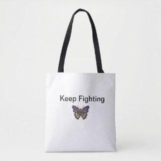 Keep Fighting Tote Black Handles