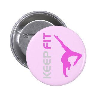 Keep Fit 6 Cm Round Badge