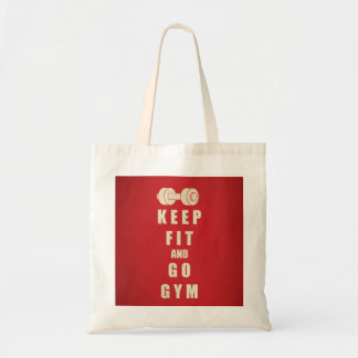 Keep Fit and Go GYM Quote Canvas Bag