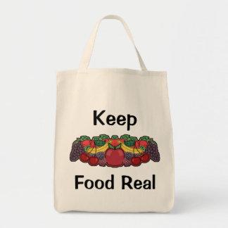 Keep Food Real Tote Bag