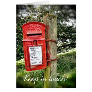 Keep in touch! card