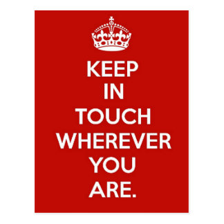 Keep in Touch Postcard