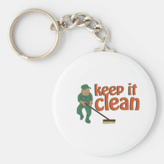 Keep It Clean Basic Round Button Key Ring