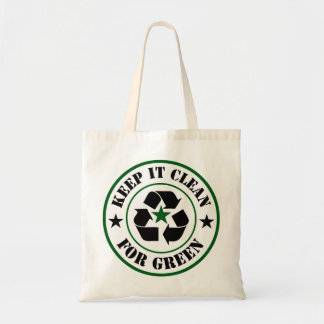 Keep It Clean For Green Logo Tote Bag
