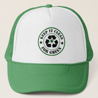 Keep It Clean For Green Logo Trucker Hat