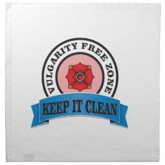 keep it clean zone napkin