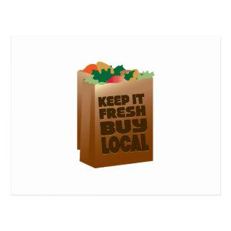 Keep It Fresh Buy Local Postcard