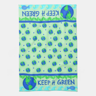 Keep It Green Ecology Kitchen Towell Towel