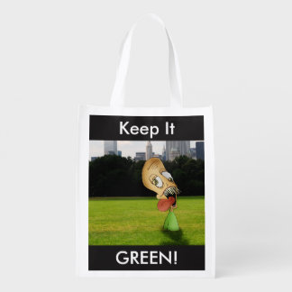 """Keep it GREEN!"" Reusable bag"