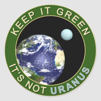 KEEP IT GREEN ROUND STICKER