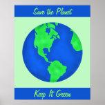 Keep It Green Save Earth Environment Art Custom