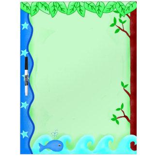 Keep It Green Save Earth Environment Art Dry Erase Board