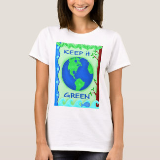 Keep It Green Save Earth Environment Art T-Shirt
