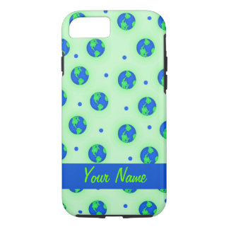 Keep It Green Save Earth Globe Pattern Art iPhone 7 Case