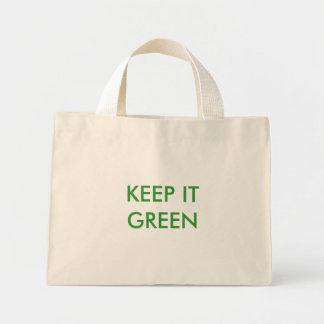 KEEP IT GREEN tote Mini Tote Bag
