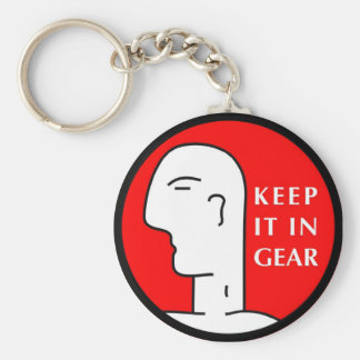 KEEP IT IN GEAR BASIC ROUND BUTTON KEY RING