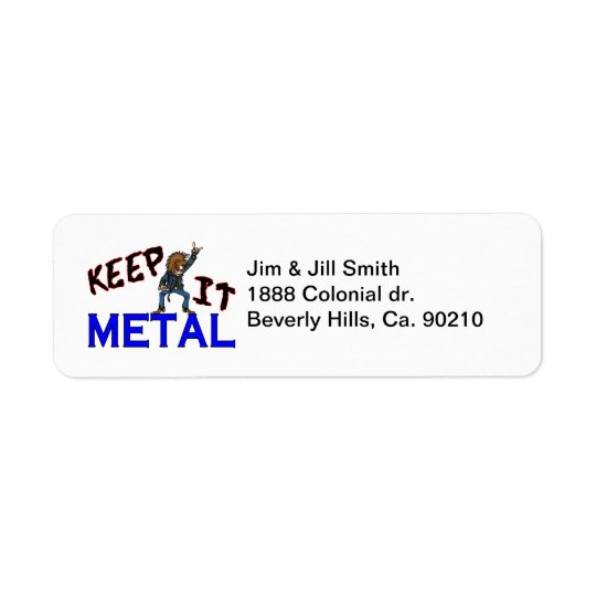 Keep It Metal Return Address Label
