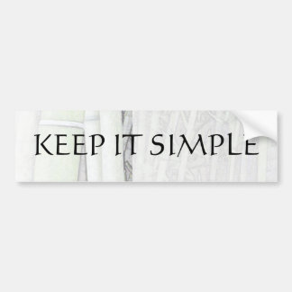 Keep It Simple Bamboo Light Bumper Sticker