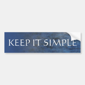 Keep It Simple Blue Water Bumper Sticker