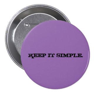 Keep it Simple Large Purple Button