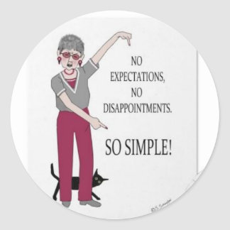Keep it simple! round sticker