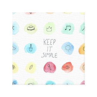 Keep It Simple Splotch Pattern on Canvas Print