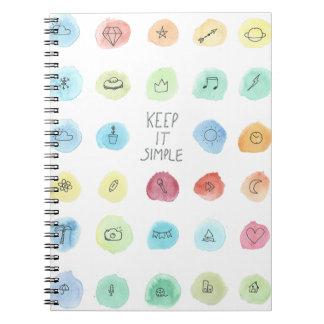 Keep It Simple Splotch Pattern on Notebook